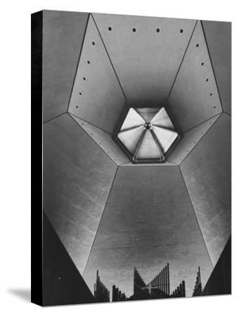 Interior of North Christian Church Designed by Eero Saarinen