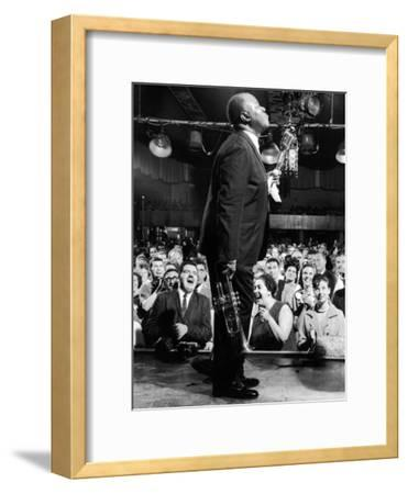 Musician Louis Armstrong Performing at the Steel Pier