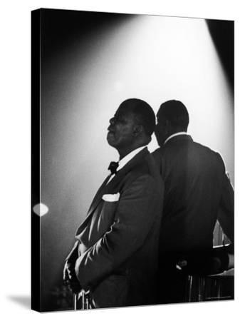 Musician Louis Armstrong Waiting on Stage to Perform