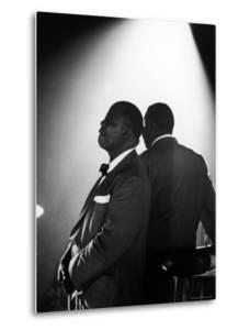 Musician Louis Armstrong Waiting on Stage to Perform by John Loengard