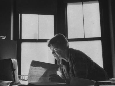 Noted Anthropologist Dr. Margaret Mead at Work at the American Museum of Natural History