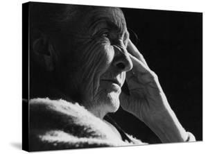 Pensive Portrait of Artist Georgia O'Keeffe by John Loengard