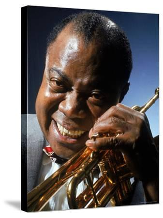 Portrait of Jazz Musician Louis Armstrong