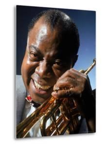 Portrait of Jazz Musician Louis Armstrong by John Loengard