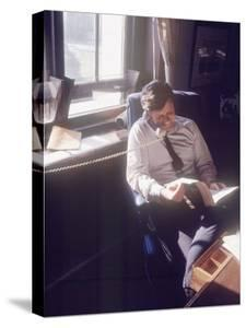 Senator Edward M. Kennedy on the Phone in His Office, Probably in Washington Dc by John Loengard