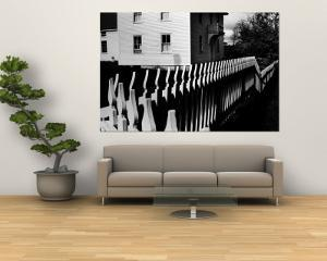 Wooden Picket Fence Surrounding a Building Built in 1850 in a Shaker Community by John Loengard