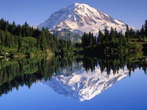 Mountain and Reflection by John Luke
