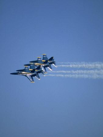 USN Blue Angels Flying in Formation