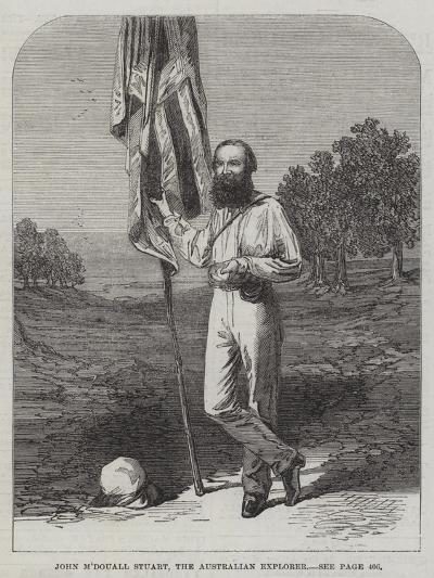John M'Douall Stuart, the Australian Explorer--Giclee Print