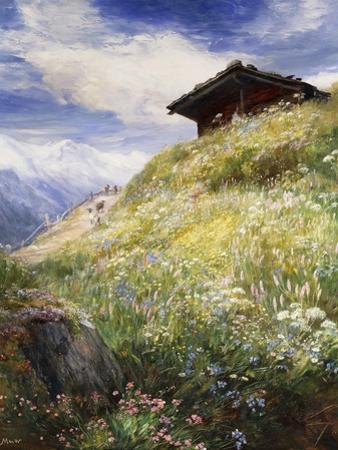 An Alpine Meadow, Switzerland by John MacWhirter