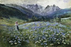 An Alpine Meadow by John MacWhirter