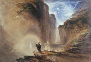 Manfred and the Witch of the Alps, 1837 by John Martin