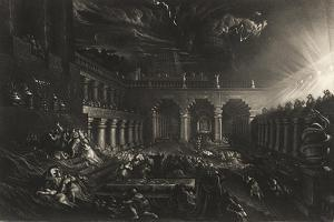 Plate from 'Illustrations to the Bible': Belshazzar's Feast by John Martin