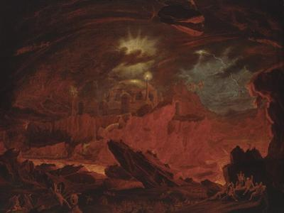 The Fallen Angels Entering Pandemonium, from 'Paradise Lost', Book 1 by John Martin