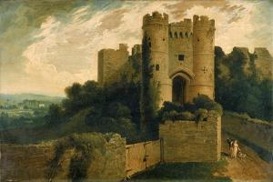 View of the Entrance of Carisbrooke Castle, Isle of Wight, 1815 by John Martin