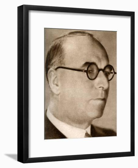 John Maxwell, Chairman and Managing Director of British International Pictures, 1933--Framed Giclee Print
