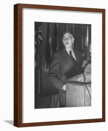 John Maynard Keynes During the Monetary Conf--Framed Photographic Print
