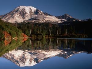 Mount Rainier Reflected in Bench Lake by John McAnulty