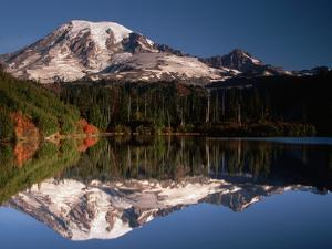 Mount Rainier Reflected in Bench Lake by John McAnulty