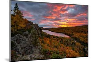 A Fiery Sunrise over Lake of the Clouds, Porcupine Mountains Sate Park. Michigan's Upper Peninsula by John McCormick