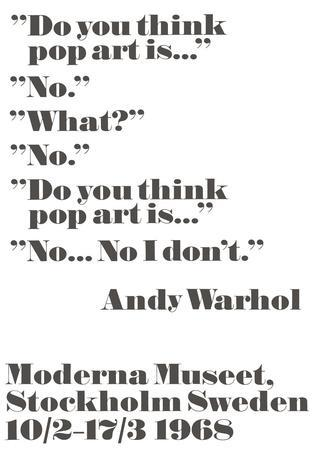 Do you think pop art is...
