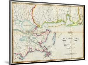 Map of New Orleans and Adjacent Country, c.1815 by John Melish