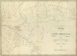 Map of New Orleans and Adjacent Country, c.1824 by John Melish