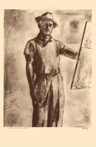 John Kelly Self Portrait - Honolulu Hawaii - from Etchings and Drawings of Hawaiians by John Melville Kelly