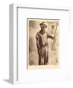 John Kelly Self Portrait - Honolulu Hawaii - from Etchings and Drawings of Hawaiians by John Melville Kelly