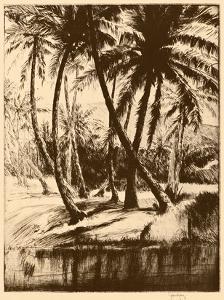 Kauai Coconuts - Vintage Menu Cover for Kauai Inn - Hawaii, USA by John Melville Kelly