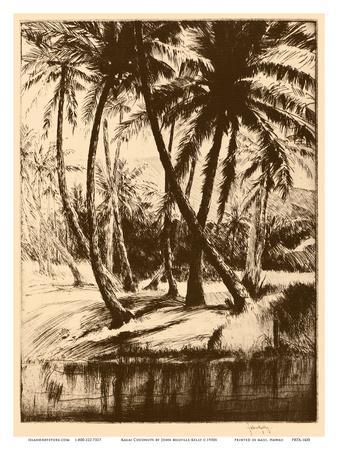 Kauai Coconuts - Vintage Menu Cover for Kauai Inn - Hawaii, USA