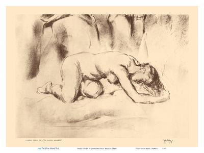 Nude Study - from Etchings and Drawings of Hawaiians