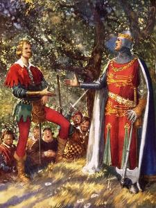 Robin Hood and Richard the Lionheart by John Millar Watt