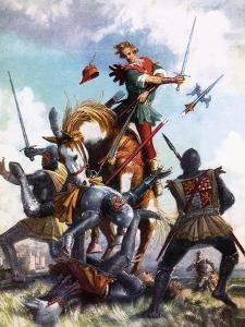 Robin Hood Fighting by John Millar Watt