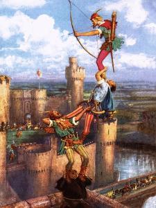 Robin Hood Shooting into Nottingham Castle by John Millar Watt