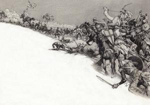 Saracens Attacking Jerusalem by John Millar Watt