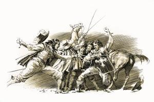 Twenty Years After: the Capture of D'Artagnan by John Millar Watt