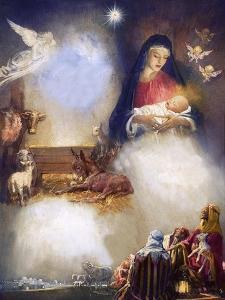 Unidentified Montage Based on the Birth of Jesus by John Millar Watt