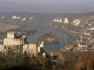 Chateau Gaillard and River Seine, Les Andelys, Haute Normandie (Normandy), France by John Miller