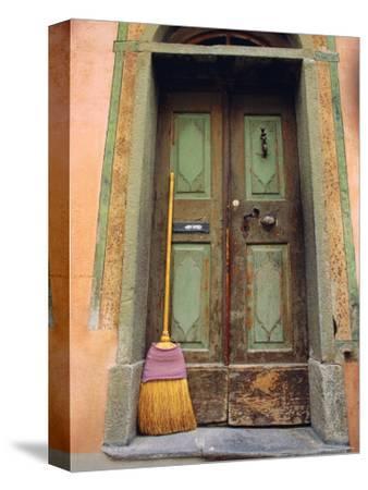 Doors and Broom, Ardez, Switzerland, Europe