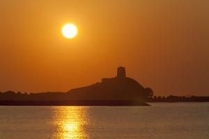 Nora Sunrise over Harbour, Near Pula, Cagliari Province, Sardinia, Italy, Mediterranean, Europe by John Miller