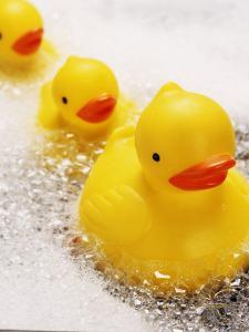 Rubber Ducks in Bath by John Miller