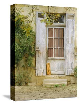 Rustic Door and Bread, Aquitaine, France, Europe