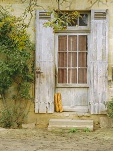 Rustic Door and Bread, Aquitaine, France, Europe by John Miller