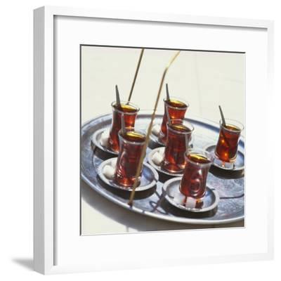 Tray of Turkish Teas, Turkey, Eurasia