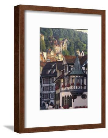 Tudor Exterior of Buildings in Town of St Gallen in Switzerland