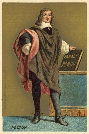 John Milton, English Poet--Giclee Print