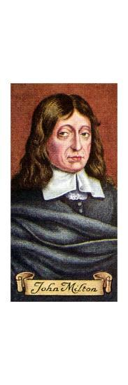 John Milton, taken from a series of cigarette cards, 1935. Artist: Unknown-Unknown-Giclee Print