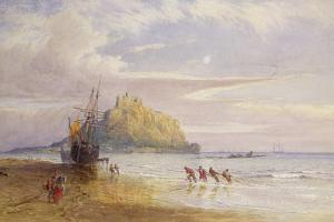 A September Evening, St Michael's Mount, Cornwall by John Mogford