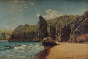 Cliffs at Barlow, c1877 by John Mogford
